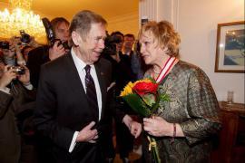 Václav Havel a Věra Čáslavská