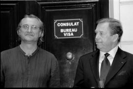 Bořek Šípek s Václavem Havlem
