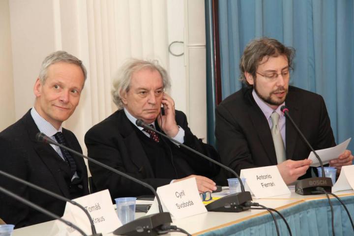 Cyril Svoboda, Antonio Ferrari, Andreas Pieralli