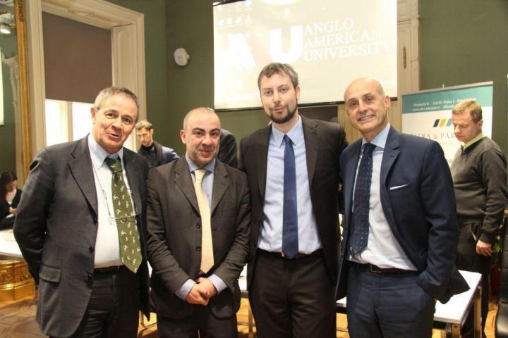Giovanni Sciola, Pietro Andrea Podda, Andreas Pieralli, H.E. Aldo Amati
